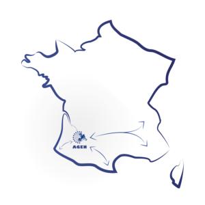 Carte France réseau route Transports Clauni